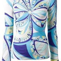 DCCKIN3 Emilio Pucci psychedelic print reversible top