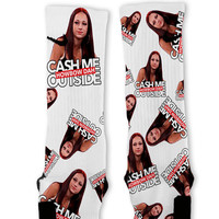 Cash Me Outside Howbow Dah Custom Nike Elite Socks