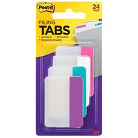 Post it Durable Filing Tabs 2 x 1 12 Assorted Colors 6 Flags Per Pad Pack Of 4 Pads by Office Depot & OfficeMax