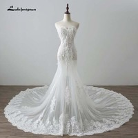 Vestido de Noiva Cut-out lace Mermaid Wedding Dresses Sexy Sweetheart Wedding Gowns Bridal Wedding Dress