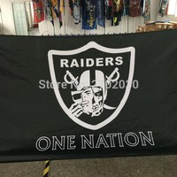 ONE NATION Banner Oakland Raiders One Nation Flag Football Sport World Series Custom Oakland Raiders One Nation Banner Flag