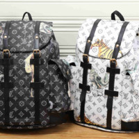 LV fashion letters backpack cool[380485140516]