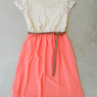 Lace & Peach Dress