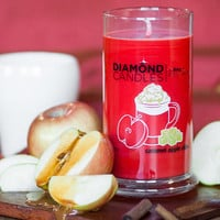 Caramel Apple Cider Candle - All Natural Soy Candles By Diamond Candles