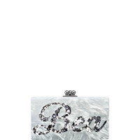 Jean Bespoke Acrylic Clutch Bag, White (Made to Order)