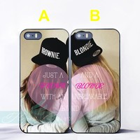 Brunette Brownie Blondie Best Friend iPhone Case 7 6S 6 5S SE 5C 5 4S 4 7 Plus Case for iPod Touch 6 5 Cover