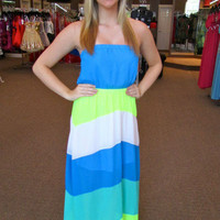 Color Block Maxi Dress   | RaeLynns Boutique - Prom Dresses & Tuxedos Indianapolis Indiana