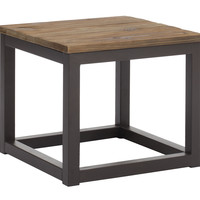 Civic Center Side Table Distressed Natural