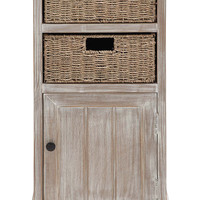 Rural Wood 2 Basket Cabinet
