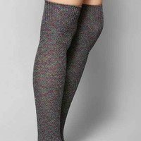 Multi-Marl Pointelle Over-The-Knee Sock- Black Multi One