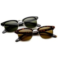 Indie Horned Rim Half Frame Sunglasses 2934 [2 Pack]