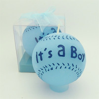 "Baby Shower Party Favor Souvenir - ""It's A Boy"" Baseball Candle"