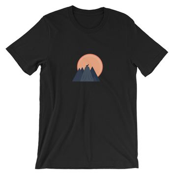 TooLoud Three Wolves Howling at the Moon Infant T-Shirt Dark