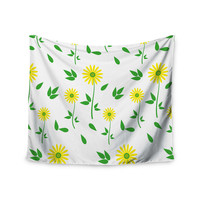 "Louise ""Daisy"" Yellow Green Wall Tapestry"