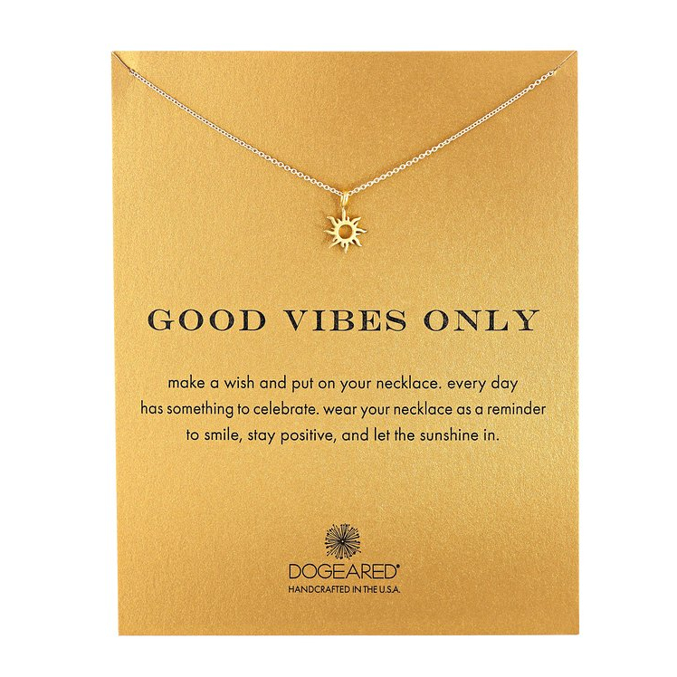 """Image of Dogeared - Reminder Good Vibes Only 16"""" Dainty Necklace"""