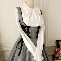 Lady Oscar Vintage cotton Lace Academy Style Lolita Chest Supporting Dress