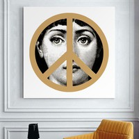 Fornasetti A single painting not contain wood  Modern Vintage Retro Gifts Wall Art Quotes Bedroom Decor Cuadros Decoracion