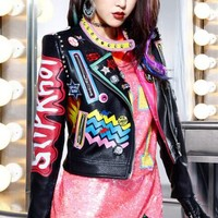 Graffiti Biker Jacket