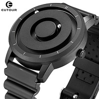 Creative Eutour Watch Blue Rose Gold Black Sliver Magnetic Ball Metal Multinational Watches Man Rubber Sports Clock Male Reloj