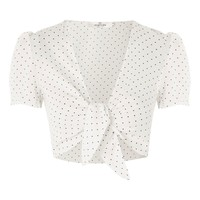 **Polka Dot Crop Top by Oh My Love | Topshop