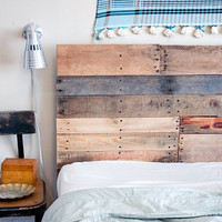 Reclaimed Wood Headboard and Footboard Made to Order
