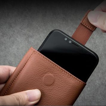 Genuine Leather iPhone X Wallet Case
