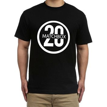 Matchbox Ttwenty Matchbox 20 Band Logo Tshirt Black New Men's T Shirt New Funny Cotton Tee Shirt|T-Shirts