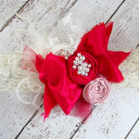 Little Cupid Silk Bow Valentine Headband