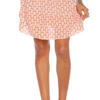 Due Maternity Abigail Pregnancy And Beyond Tiered Skirt - Fuchsia/Orange