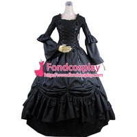 Gothic Lolita Punk Medieval Gown Black Long Evening Dress Jacket Tailor-made Alternative Measures - Brides & Bridesmaids - Wedding, Bridal, Prom, Formal Gown