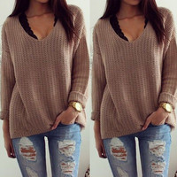 Women Long Sleeve Knitwear Jumper Cardigan Coat Jacket New Casual Sweater Tops