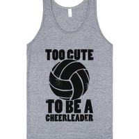 Too Cute To Be a Cheerleader-Unisex Athletic Grey Tank