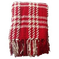 Threshold Plaid Chenille Throw : Target