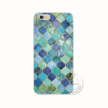 Shell For Apple iPhone 5 5S 5C 6 6S Plus 6SPlus Back Case Cover Printing Mandala Flower Datura Floral Cell Phone Cases