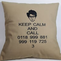 IT Crowd inspired Embroidered Pillow Case Cover