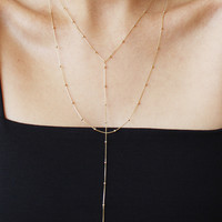 Willow Lariat Necklace