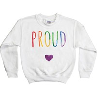 Proud Watercolor -- Youth Sweatshirt