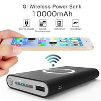 Universal Power Bank Portable Wireless Charger For iPhone Samsung
