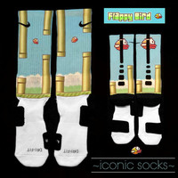Flappy Bird Inspired Custom Nike Elite Crew Socks - limited edition