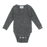 Kipp Unisex-baby Black and White Knit Bodysuit