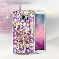 Crystal Diamond Phone Case Rhinestone Cover For iPhone 5 5S SE 6 6S Samsung Galaxy S7 S6 Edge Plus S5 S4 A3 A3100