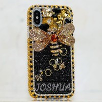 The Bumblebee Personalized Name & Initials Design (style PN_1134)