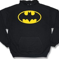 Classic Batman Logo Hooded Sweatshirt