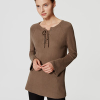 Lace Up Bell Sleeve Sweater | LOFT