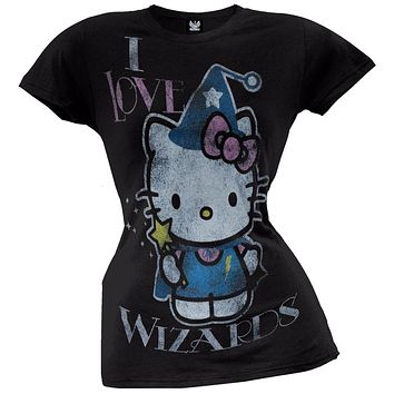 Hello Kitty - I Love Wizards Juniors T-Shirt
