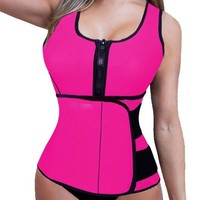 3XL Weight Loss Products Neoprene Body Slimming Vest Corset Waist Trainer Women Body Wrap Belly Cellulite Fat Burning Corsets