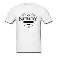 Peaky Blinders T-shirt Men Birmingham Tommy Shelby Tshirt Company Ltd Logo 80s Vintage Beige T Shirt Cotton TV Show Tops Tees