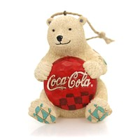 Jim Shore COCA-COLA BEAR Polyresin Ornament Polar Drink 4059722