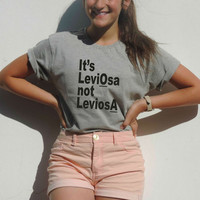 Its's Leviosa not Leviosa Harry potter shirt HP Magic Levitation Hermione Granger to Ron Weasley Magic Spell Gryffindor gift for boy girl from CelebriTee