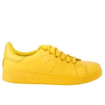 All Color Tennis Sneaker - Yellow